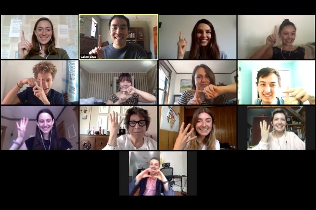 Tisch College staff and students on a Zoom call