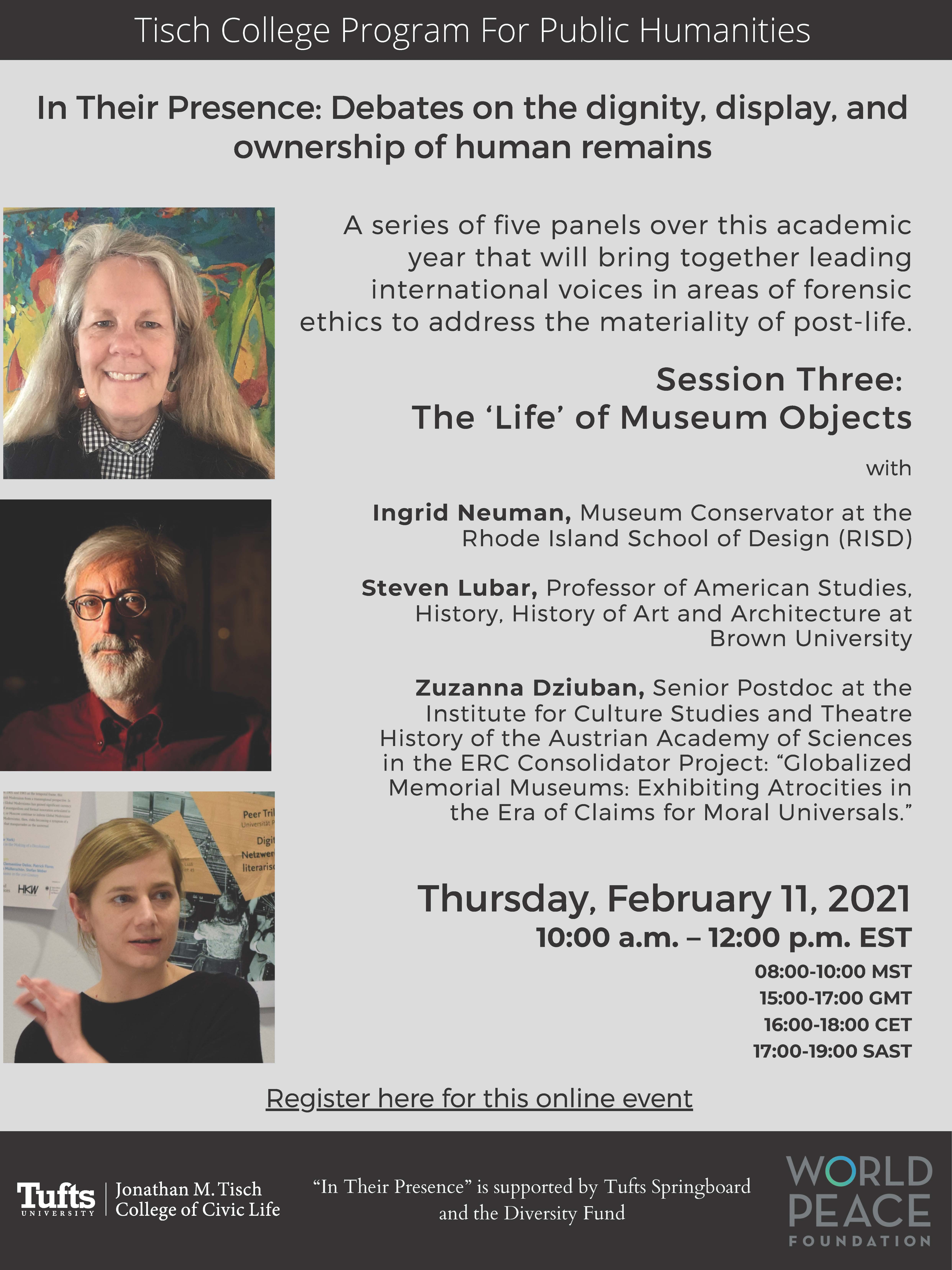 Flyer for session 3 of Humanities talks