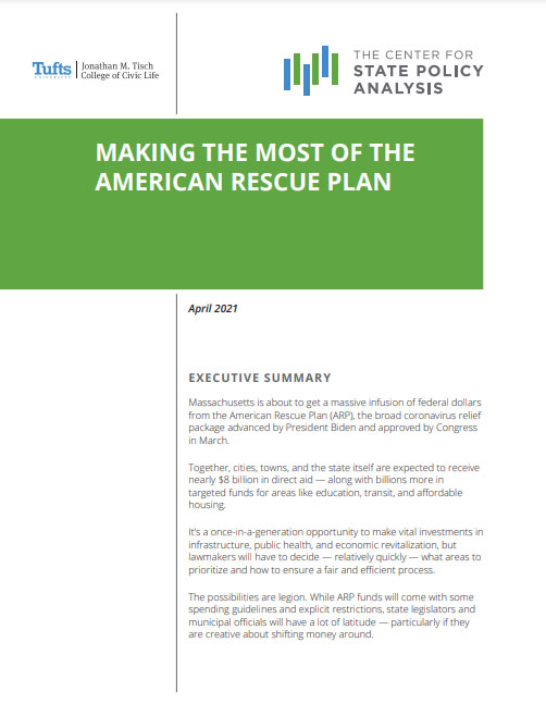 Cover of cSPA report on American Rescue Plan