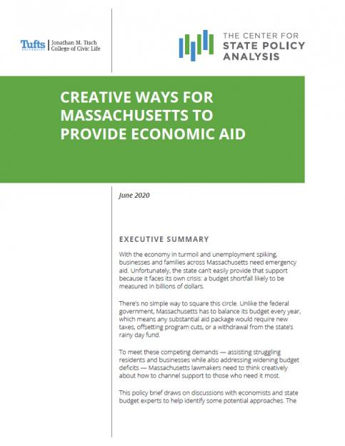 Cover of report on creative economic aid
