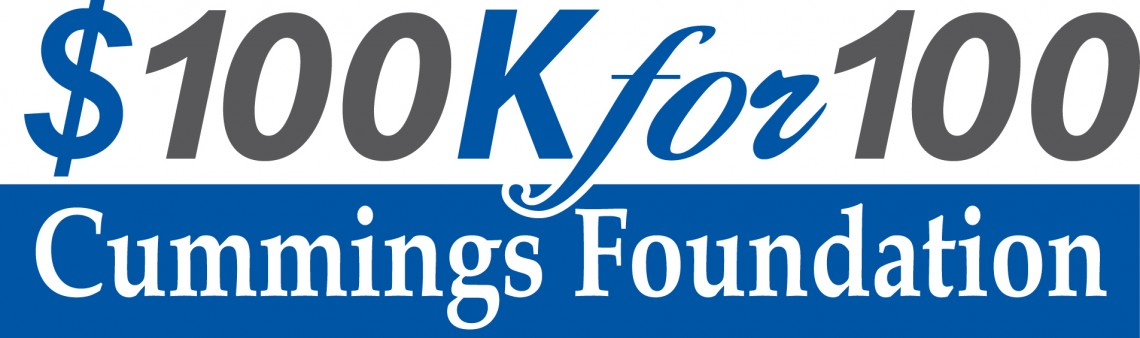 Logo of the Cummings Foundation 100k for 100 initiative