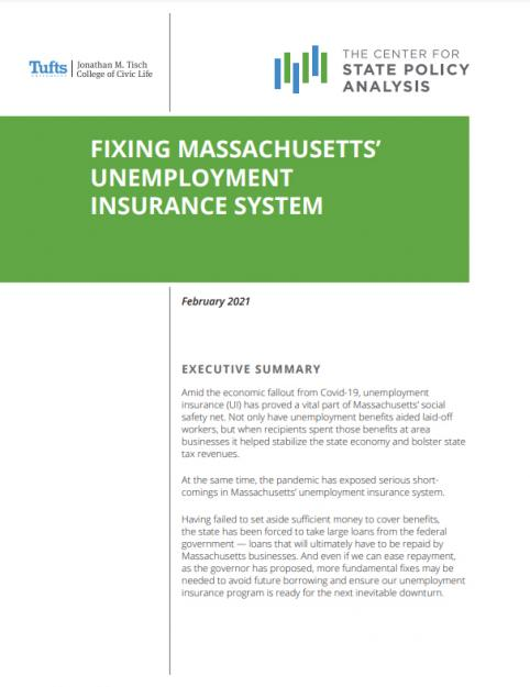 Cover of cSPA report on unemployment insurance