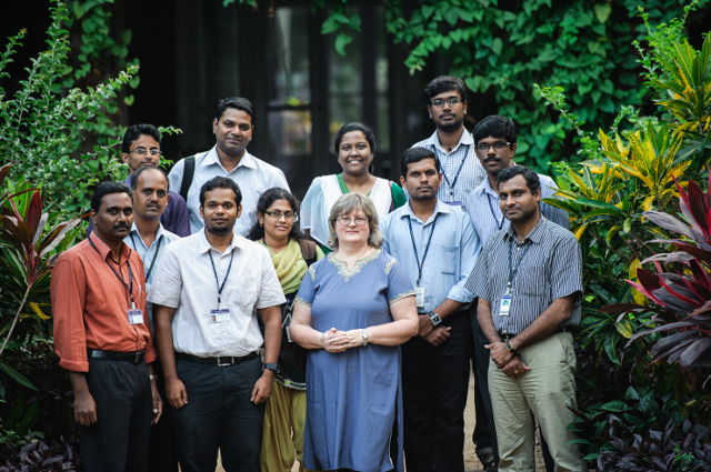 Elena Naumova with colleagues in India