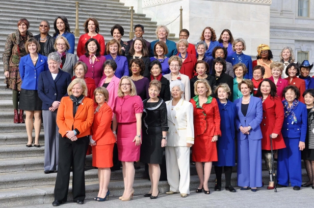 women in Congress in January 2013