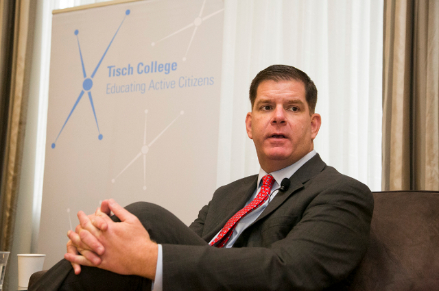 Mayor Marty Walsh at Tufts