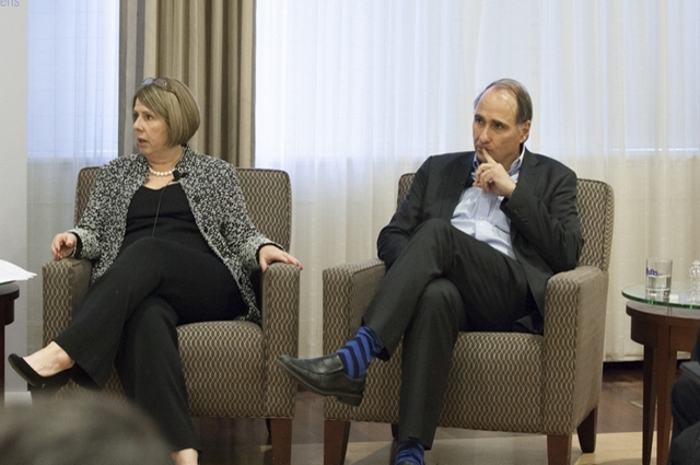 Beth Myers and David Axelrod at Tufts