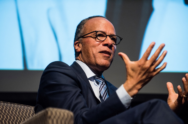 Lester Holt at Tufts