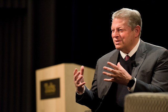 Al Gore headlined the Spring 2018 Distinguished Speaker Series
