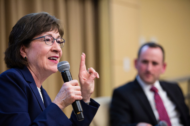 Susan Collins, U.S. Senator from Maine, spoke at Tisch College
