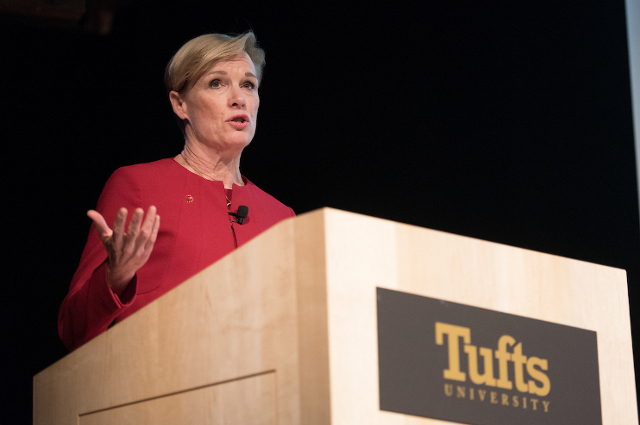 Cecile Richards of Planned Parenthood, the 2018 Merrin Moral Voices lecturer