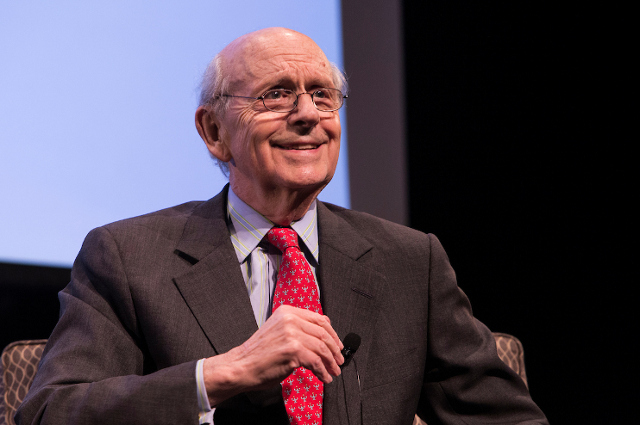 Supreme Court Justice Stephen Breyer was a Tisch Distinguished Speaker