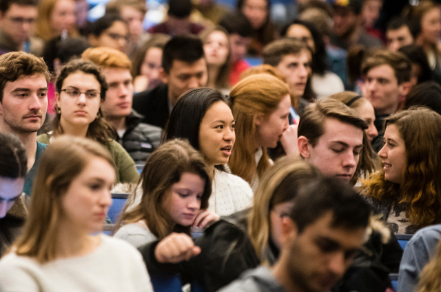 Thousands of students attended Tisch College events this year.