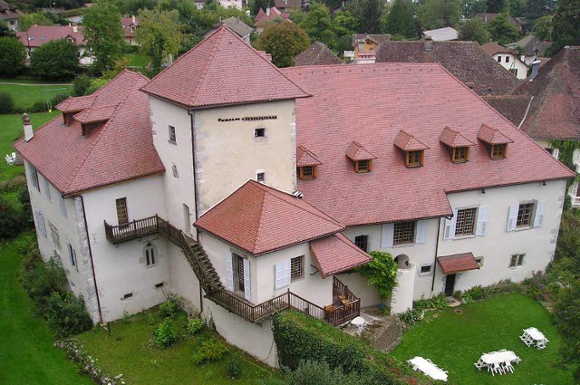 Talloires priory building seen from above