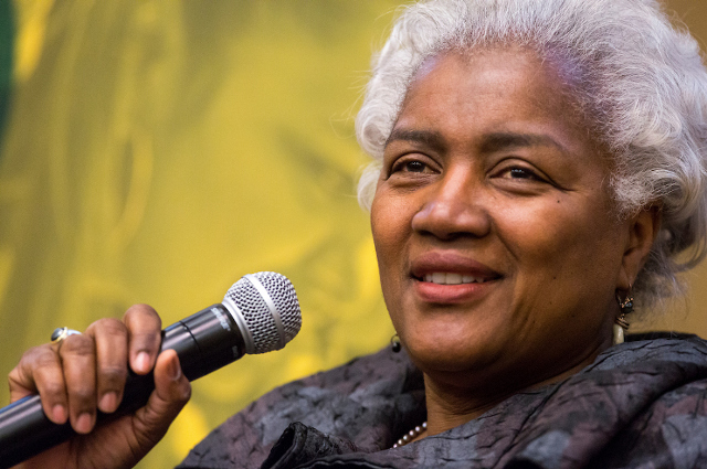 Donna Brazile talking at Tufts