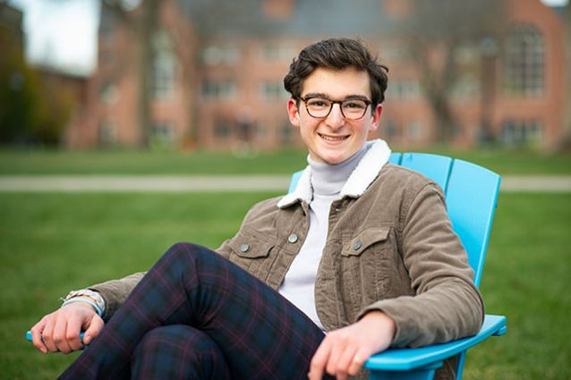 """""""I think it has been a hugely meaningful experience that has brought students closer to work they're passionate about in their home communities,"""" said Alex Lein, A21. Photo: Alonso Nichols/Tufts University"""