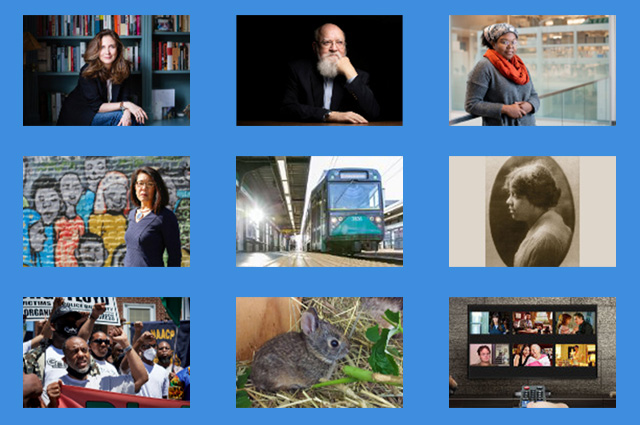 Nine small photos in a grid. In a year dominated by COVID-19, Tufts Now highlights stories that looked past the pandemic