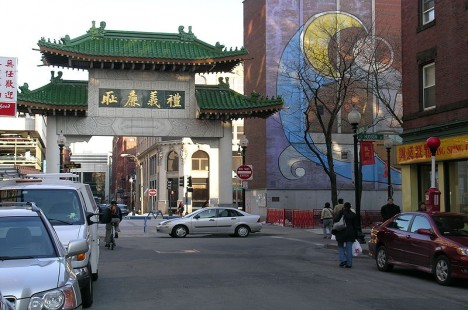 A street in Boston's Chinatown