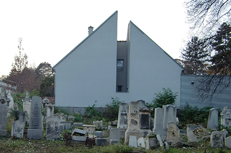 Building at a Jewish cemetery in Austria