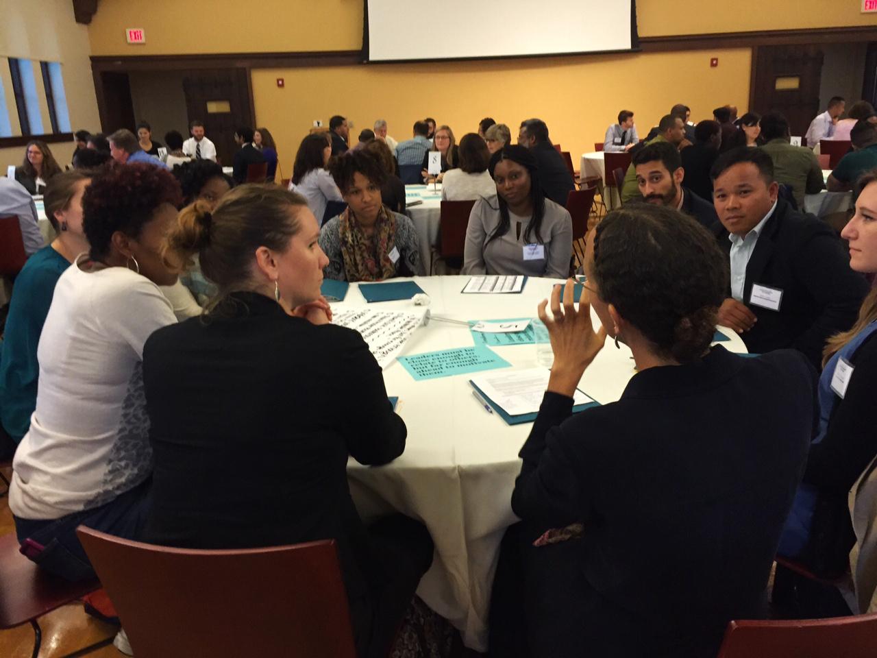 Assembled attendees at Institute for Nonprofit Management and Leadership event