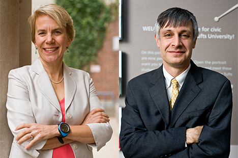 Associate Deans Miriam Nelson and Peter Levine