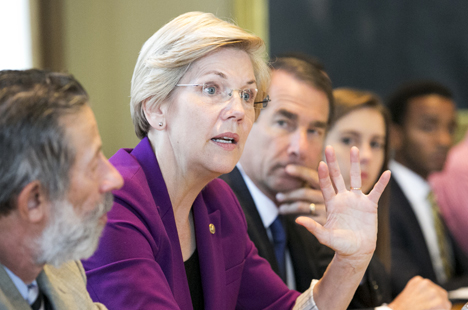 Senator Elizabeth Warren and Tisch College Dean Alan Solomont