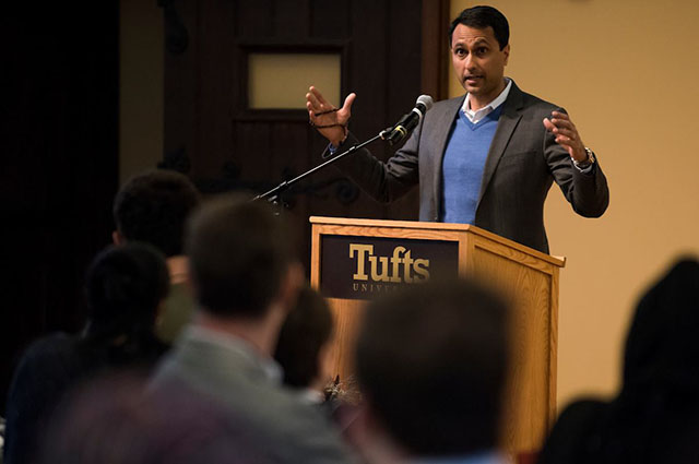 Eboo Patel speaking at Tisch College event