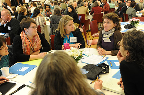 Table conversations at 2014 Symposium on Community Partnerships