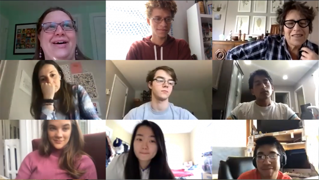Zoom call with Tisch Summer Fellows