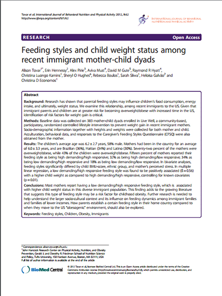Assessing Obesity Article