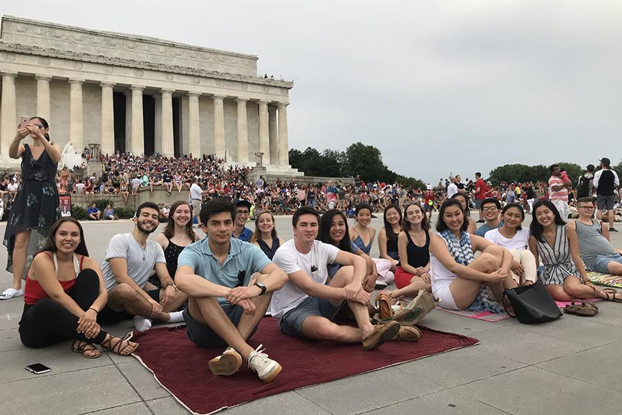 2018 Tisch Summer Fellows Enjoying the Sights in Washington, D.C.