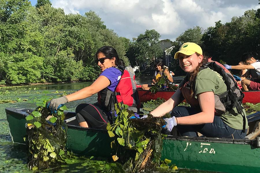 2018 Tisch Summer Fellows Cleaning up the Mystic River