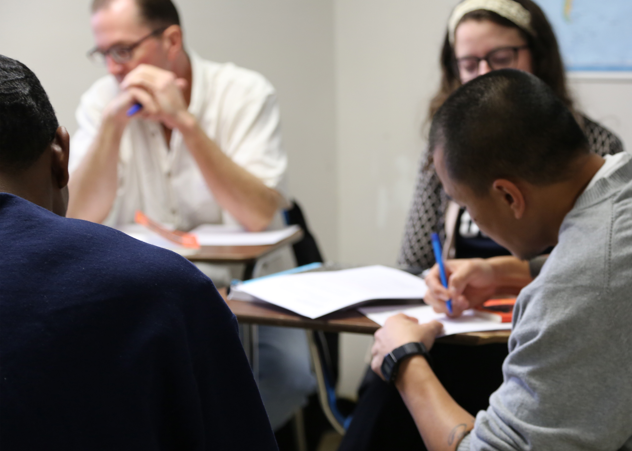 Tufts students and incarcerated students in the Prison Initiative's Inside-Out course