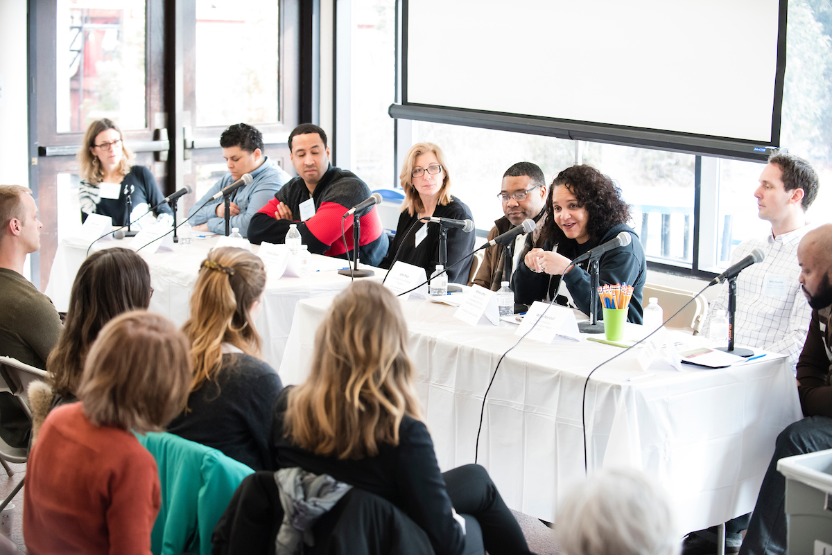 Speakers at a February 2018 symposium on prison education